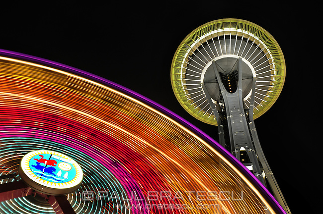 Space Needle, Seattle, Washington, Pacific Science Center, ferris, wheel, ferris wheel