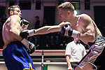 Ricky Heavens vs Jacob Lucas 4x3 Middleweight contest During Goodwin Boxing: Christmas Carnage. Photo by: Simon Downing.<br /> <br /> Saturday 3rd December 2016 - York Hall, Bethnal Green, London, United Kingdom.