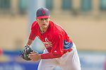 2 March 2013: St. Louis Cardinals pitcher Tyler Lyons warms up prior to a Spring Training game against the Washington Nationals at Roger Dean Stadium in Jupiter, Florida. The Nationals defeated the Cardinals 6-2 in their first meeting since the NLDS series in October of 2012. Mandatory Credit: Ed Wolfstein Photo *** RAW (NEF) Image File Available ***