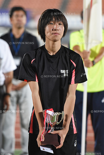 Seika Aoyama, <br /> JULY 25, 2015 - Athletics : <br /> All Star Night Track &amp; Field <br /> Closing Ceremony <br /> at Shonan BMW Stadium Hiratsuka, Kanagawa, Japan. <br /> (Photo by AFLO SPORT)