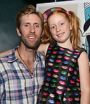 """Jeff Wise and Charlotte Wise attends the Birthday Party Photo Call for the Wheelhouse Theater Company production of Kurt Vonnegut's """"Happy Birthday, Wanda June""""  on October 3, 2018 at Bond 45 Times Square in New York City."""