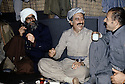 Iran 1979.Sheikh Ezzedin, Abdul Rahman Ghassemlou et Mohamed Emin au quartier général du PDKI, dans les montagnes.Iran 1979.Sheikh Ezzedin,Abdul Rahman Ghassemlou and Mohammed Emin meeting in the mountains ,at the headquarter of KDPI