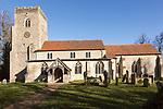 Village parish church and churchyard, Saint Nicholas, Hintlesham, Suffolk, England, UK