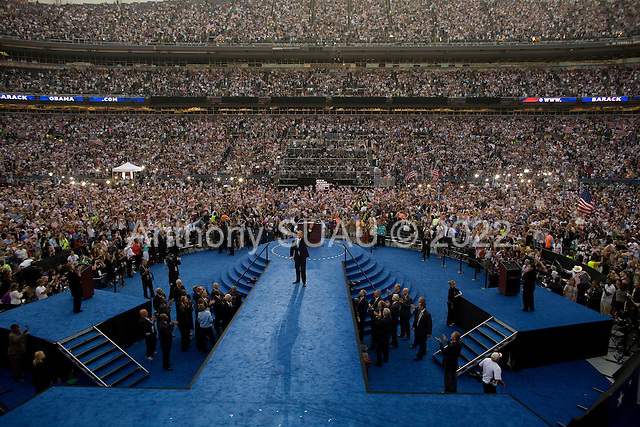 Denver, Colorado<br /> August 28, 2008<br /> <br /> U.S. former Vice President Al Gore urges Democrats to seize the opportunity of change by electing Barack Obama as the next president in Denver's Mile High Stadium.