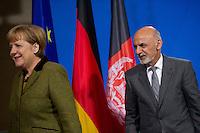 Berlin, Bundeskanzlerin Angela Merkel (CDU) empfaengt am Freitag (05.12.2014) den afghanischen Praesidenten Aschraf Ghani. Foto: Steffi Loos/CommonLens
