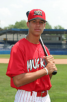 Batavia Muckdogs Quintin Berry poses for a photo before a NY-Penn League game at Dwyer Stadium on June 30, 2006 in Batavia, New York.  (Mike Janes/Four Seam Images)