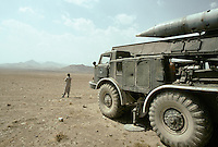 A Russian 9K52 tactical surface-to-surface missile set type LUNA-M, on the road between Kabul to Charikar. Warlord Ahmad Shah Massoud launch several Luna on Maiden Char Taleban position, South of Capital Kabul autumn 1995.