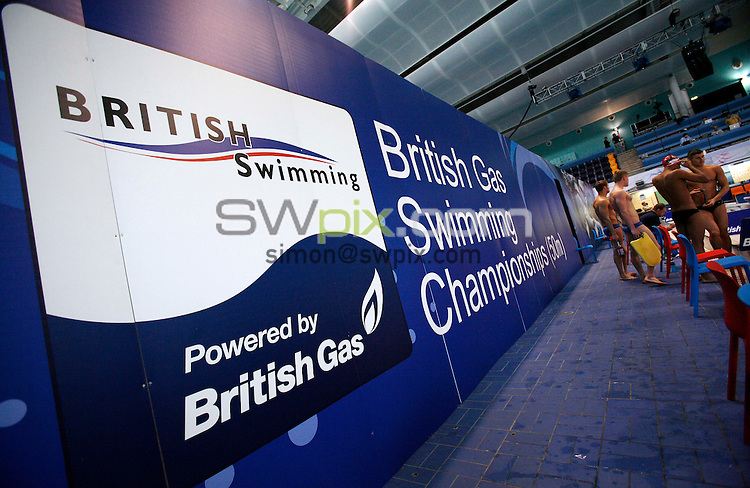 PICTURE BY VAUGHN RIDLEY/SWPIX.COM...Swimming - British Gas Swimming Championships 2011, Day 3 - Manchester Aquatics Centre, Manchester, England - 07/03/11...Branding.