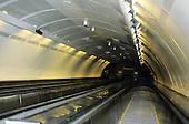 Belgrade, Serbia, Yugoslavia. Underground/metro - modern escalator.