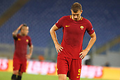 12th September 2017, Stadio Olimpic, Rome, Italy; UEFA Champions League between AS Roma versus Club Atletico de Madrid  Edin Dzeko dejected as his team fail to score in a home match ; the game ended on a 0-0 draw