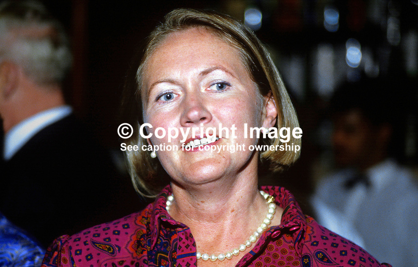 Dr Jennifer Viggers, wife of Peter Viggers, MP, Conservative Party, UK, 19870914JV.<br />