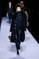 Tom Ford<br /> Gracie Hartzel<br /> New York Fashion Week <br /> FW18<br /> <br /> New York Fashion Week,  New York, USA in February 2018.<br /> CAP/GOL<br /> &copy;GOL/Capital Pictures