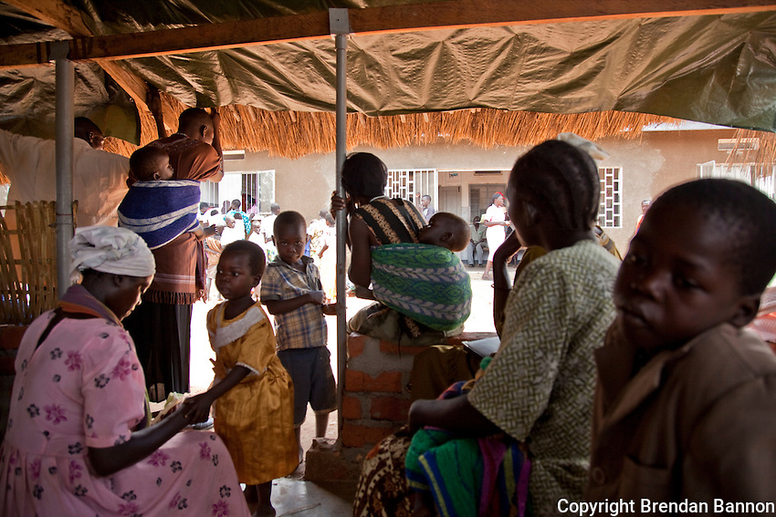 Patients waiting for  medical consult at MOH  facility in Madi Opei, Uganda.