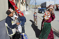 Street scene in a Tibetan community on the Tibetan Plateau, in western China.