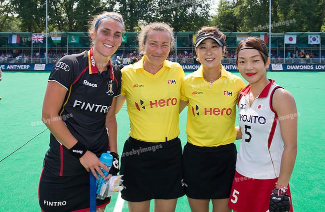 02/07/2015<br /> HWL Semi Final Antwerp Belgium 2015<br /> Japan v Belgium Women<br /> <br /> Photo: Grant Treeby