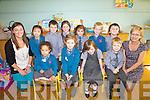 All smiles for the first day at school in Ballinskelligs NS pictured here on Thursday last were front l-r; Abi Ware, Siobhan Ní Fhoghlú, Gráine Ní Leidhin, Erin Mac Conmara, back l-r; Tara Ní Chonchubhair(Teacher), Sibéal Qun, Anraí Ó Guiní, Rút Ní Ghuiní, Amber Ní Mhurchú, Seámus Ó Laoi, Ciarán Ó Sé agus Michelle Barry(SNA).