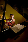 Playwright Gregg Coffin at his Sacramento, CA home and studio on Thursday, October 18, 2007.