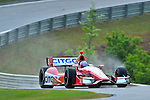 E.J. Viso of Venezuela, pilots the KV Racing Technolgy #5 during an IZOD Indycar Series practice session Friday afternoon at Barber Motorsports Park in Birmingham, Alabama .