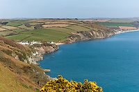 BNPS.co.uk (01202 558833)<br /> Pic: March&Petit/BNPS<br /> <br /> PICTURED: The home has a stunning view of the coast<br /> <br /> A charming clifftop cottage which offers breathtaking views of the English channel has emerged on the market for £450,000.<br /> <br /> Mildmay Cottage, in the fishing village of North Hallsands, Devon, backs on to the scenic South West Coastal Path.<br /> <br /> The front door of the three bedroom early 20th century former fisherman's property is just 4ft from the cliff edge.<br /> <br /> It looks out over Start Bay with its historic early 19th century lighthouse and the spectacular Dartmouth headland.<br /> <br /> The home is for sale with estate agent Marchard Petit who say the area is celebrated for its numerous unspoilt coves and beaches.