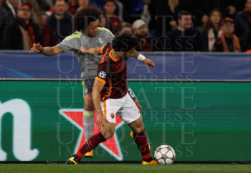 Calcio, andata degli ottavi di finale di Champions League: Roma vs Real Madrid. Roma, stadio Olimpico, 17 febbraio 2016.<br /> during the first leg round of 16 Champions League football match between Roma and Real Madrid, at Rome's Olympic stadium, 17 February 2016.<br /> UPDATE IMAGES PRESS/Riccardo De Luca