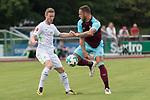 29.07.2017, Fritz Detmar Stadion, Lohne, GER, FSP SV Werder Bremen (GER) vs WestHam United (ENG), <br /> <br /> im Bild<br /> <br /> Florian Kainz (Werder Bremen #7)<br /> Niklas Moisander (Werder Bremen #18)<br /> Foto &copy; nordphoto / Kokenge