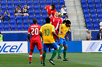 Harrison, NJ - Friday July 07, 2017: Dejan Jakovic, Samuel Piette, Rhudy Evens during a 2017 CONCACAF Gold Cup Group A match between the men's national teams of French Guiana (GUF) and Canada (CAN) at Red Bull Arena.