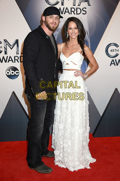 4 November 2015 - Nashville, Tennessee - Brantley Gilbert, Amber Cochran. 49th CMA Awards, Country Music's Biggest Night, held at Bridgestone Arena. <br /> CAP/ADM/LF<br /> &copy;LF/ADM/Capital Pictures