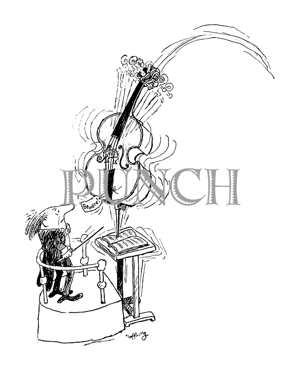 (A conductor receives a threatening message tied to a cello)