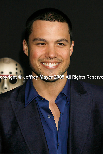 "HOLLYWOOD, CA. - February 09: Actor Michael Copon arrives at the Los Angeles premiere of ""Friday The 13th"" at Grauman's Chinese Theater on February 9, 2009 in Hollywood, California."