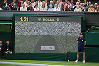 24-06-13, England, London,  AELTC, Wimbledon, Tennis, Wimbledon 2013, Day one, Haekeye<br /> <br /> <br /> Photo: Henk Koster