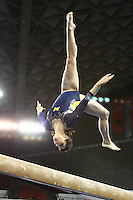 The University of Michigan women's gymnastics team win the regional 2014 NCAA Women's Gymnastics Championships hosted at Stegeman Coliseum by the University of Georgia, Athen, Gerogia. April 5, 2014
