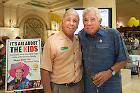 Tim O'Gorman, Champion Cleaners, with G. W. Bailey at a 'Happy Hour' benefit for the Sunshine Kids Foundation at Hilton Hotel, Naples, Florida, USA, Nov. 15, 2012. Photo by Debi Pittman Wilkey