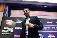 SÃO PAULO, SP, 17.11.2016 - UFC-SP - Rogerio Minotouro Nogueira durante Media Day do Ultimate Fight Championship (UFC) Fight Night São Paulo - Bader- Minotauro 2, no hotel Renaissance, na tarde desta quinta-feira, 18.(Foto: Adriana Spaca/Brazil Photo Press)