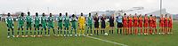 U17 : Belgian Red Flames - Nigeria <br /> <br /> beide teams bij de nationale hymnes<br /> <br /> foto Dirk Vuylsteke / Nikonpro.be