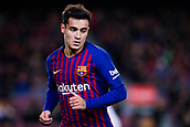 30th January 2019, Camp Nou, Barcelona, Spain; Copa del Rey football, quarter final, second leg, Barcelona versus Sevilla; Philippe Coutinho of FC Barcelona watches the play