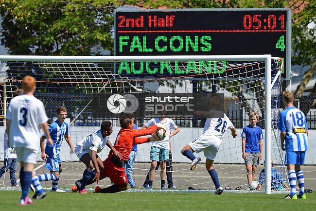 Nelson Marlborough Falcons v Auckland City Youth, ASB Youth League, 14 December 2014, Trafalgar Park, Nelson, New Zealand<br />  Photo: Barry Whitnall/shuttersport.co.nz
