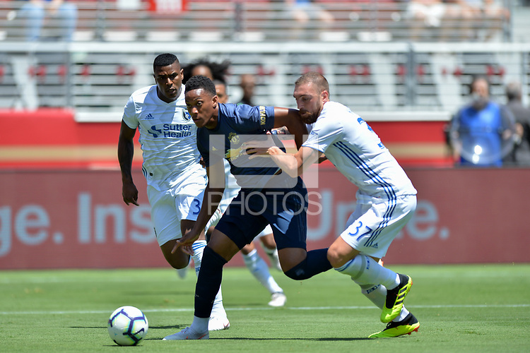 Santa Clara, CA - Sunday July 22, 2018: Guram Kashia during a friendly match between the San Jose Earthquakes and Manchester United FC at Levi's Stadium.