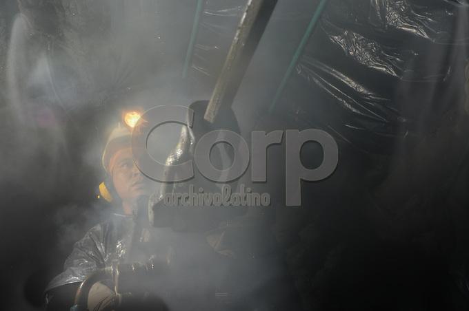 Mina de Mineros Nacionales en Marmato, Caldas, Colombia.