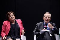 Roma, 25 Maggio 2017<br /> Rossella Orlandi e Pier Carlo Padoan<br /> Convegno &quot;L'innovazione digitale del fisco&quot; durante il Forum PA 2017 della Pubblica amministrazione