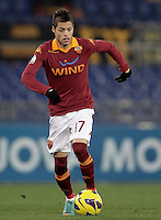 Calcio, ottavi di finale di Coppa Italia: Roma vs Atalanta. Roma, stadio Olimpico, 11 dicembre 2012..AS Roma forward Nico Lopez, of Uruguay, in action during their Italy Cup last-16 tie football match between AS Roma and Atalanta at Rome's Olympic stadium, 11 december 2012. .UPDATE IMAGES PRESS/Riccardo De Luca