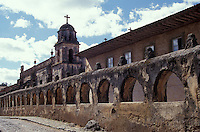 The Templo del Sagrario in the Spanish colonial town of Patzcuaro, Michoacan, Mexico