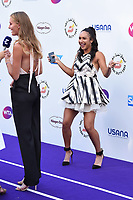 Kristina Mladenovic and Heather Watson<br /> arriving for the Tennis on the Thames WTA event in Bernie Spain Gardens, South Bank, London<br /> <br /> ©Ash Knotek  D3412  28/06/2018