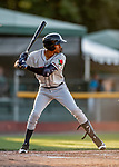 29 August 2019: Connecticut Tigers outfielder Eric De La Rosa in action against the Vermont Lake Monsters at Centennial Field in Burlington, Vermont. The Tigers defeated the Lake Monsters 6-2 in the first game of their NY Penn League double-header.  Mandatory Credit: Ed Wolfstein Photo *** RAW (NEF) Image File Available ***