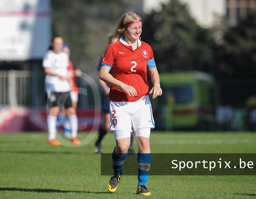 Germany U19 - Czech Republic U19 : <br /> <br /> Czech Republic U19 : Lucie Bazoutova<br /> <br /> foto Dirk Vuylsteke / Nikonpro.be