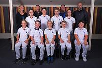 Wizards. Back row, from left: Ruth Tapper (Manager), Tim Rosenbrook (Umpire) , Richard Hunt (Scorekeeper), Campbell Garratt (Coach); middle row, Nick Rosenbrook, Campbell Gollan, Aston Burwell-Garratt, Bertie McGuigan; front row, Will Harrington, Ollie Hunt, Fletcher Cowan, Cooper Burwell-Garratt, Ethan Wolland. Absent: Dhruv Maisuria. Eastern Suburbs Cricket Club Junior Team Photos at Kilbirnie Park in Wellington, New Zealand on Monday, 9 March 2020. Photo: Dave Lintott / lintottphoto.co.nz