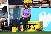 Tottenham manager Karen Hills during Arsenal Women vs Tottenham Hotspur Women, Friendly Match Football at Meadow Park on 25th August 2019