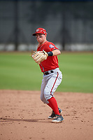Washington Nationals Cole Freeman (6) during a Minor League Spring Training game against the Miami Marlins on March 28, 2018 at FITTEAM Ballpark of the Palm Beaches in West Palm Beach, Florida.  (Mike Janes/Four Seam Images)