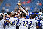 FOXBORO, MA - MAY 28: The Limestone Saints celebrate after winning the Division II Men's Lacrosse Championship held at Gillette Stadium on May 28, 2017 in Foxboro, Massachusetts. (Photo by Larry French/NCAA Photos via Getty Images)