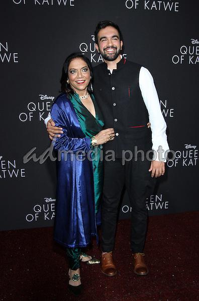 "20 September 2016 - Hollywood, California - Mira Nair ans son Zohran Mamdani. ""Queen Of Katwe"" Los Angeles Premiere held at the El Capitan Theater in Hollywood. Photo Credit: AdMedia"