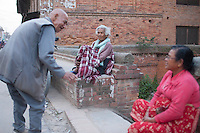 After losing the home by earthquake, Nepali people live in the street, Bhaktapur, outside of Kathmandu, Nepal. May 05, 2015